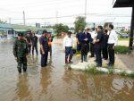 ผู้ว่าราชการจังหวัดมหาสารคาม ลงพื้นที่ตรวจสถานการณ์น้ำท่วม